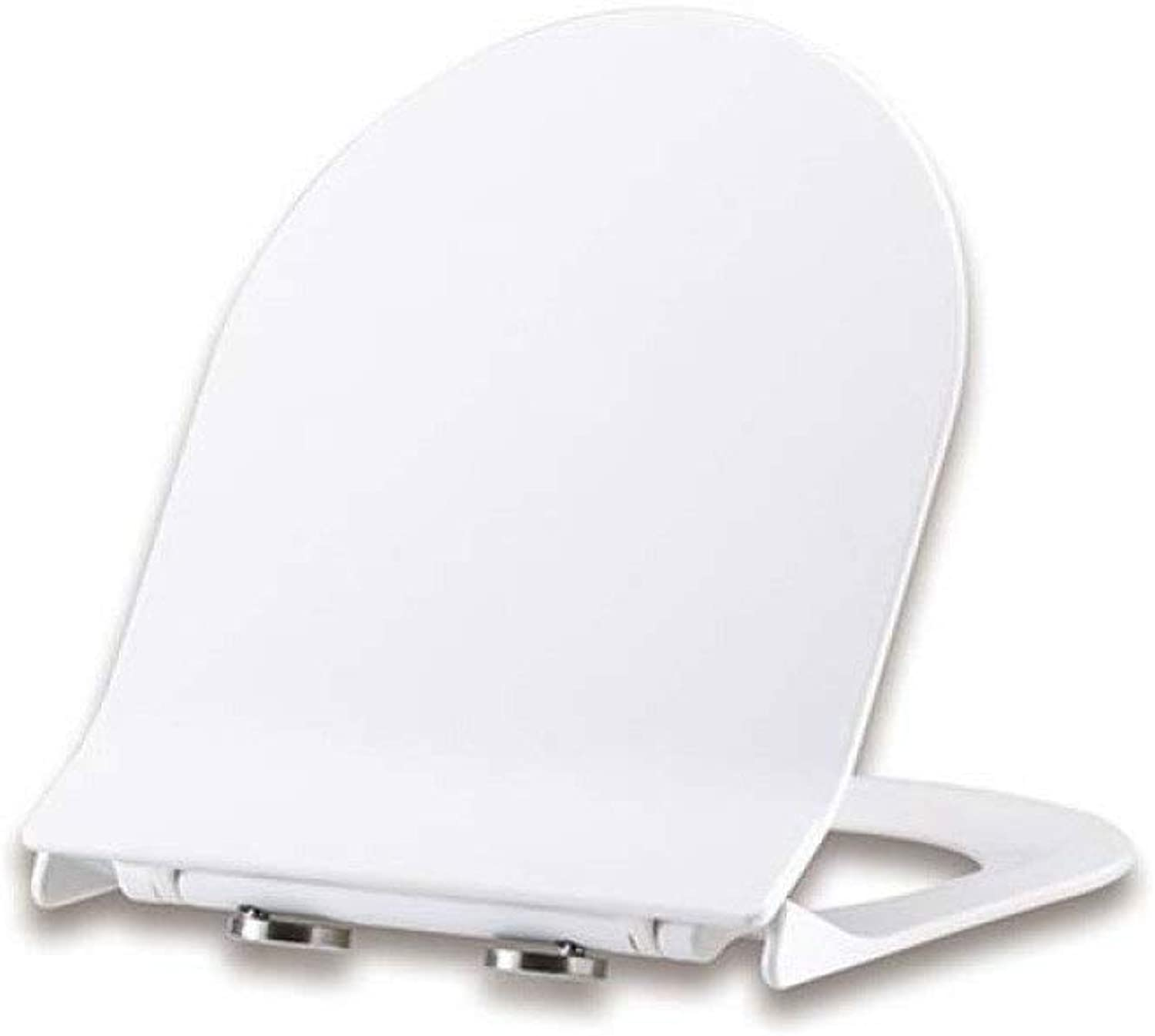 Toilet Lid Toilet Seats, U Shape Toilet Seat Drop Mute Release Hinges One Second To Remove Ultra Resistant Top Mounted, White-4244  36.2CM