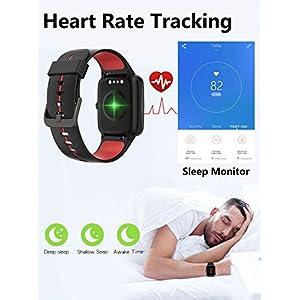 Blackview Smartwatch con GPS, Reloj Inteligente Hombre Mujer Niños -con Monitor de Sueño, Pulsómetro, Podómetro, Notificación Inteligente, Diales Personalizados, Pulsera Inteligente para iOS y Android
