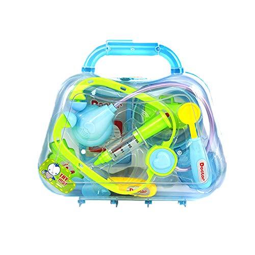 TrifyCore Durable Kinder Arzt Kit Arzt Ausrüstung Doktor Pretend Play Werkzeuge für Kleinkinder Kostüm Doktor Rollenspiele Schule Klassenzimmer pädagogisches Spielzeug Blau 1Set