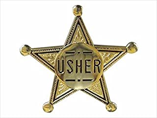 Swanson Christian Supply 80573 Badge Usher Pin Back 2 In. Gold Star Metal