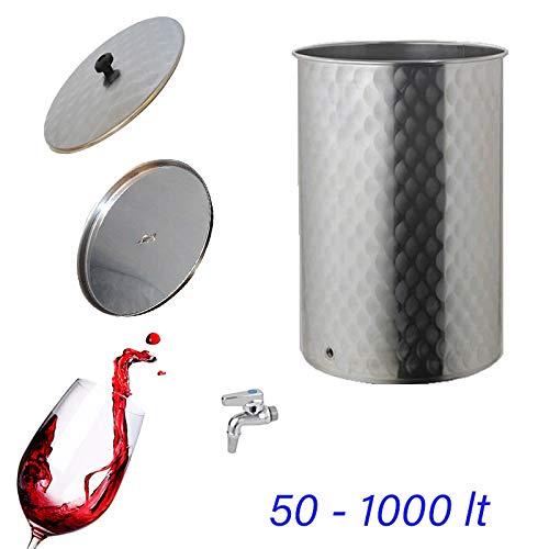 Quattro Effe Serbatoio Contenitore Inox per Vino con Galleggiante Olio da 50 a 1000 lt (50)