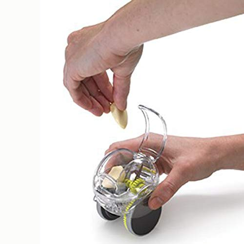 Cozyhoma Knoblauchpresse Schneider Handpresse Schleifpresse Praktische Schneidemaschine Knoblauch Küchenzubehör durchsichtig