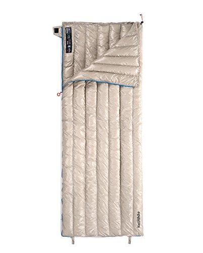 Naturehike Sleeping Bag Lightweight Compact 800 Fill Power Goose Down Sleeping Bag Compact for Adults Outdoor Camping Hiking (Khaki-(190 * 72cm))