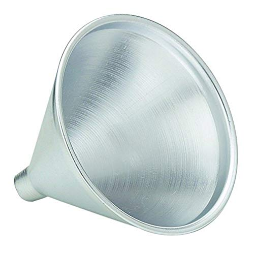 HIC Harold Import Co. HIC Aluminum Funnel for Liquids and Dry Goods, 2-Ounces, Silver