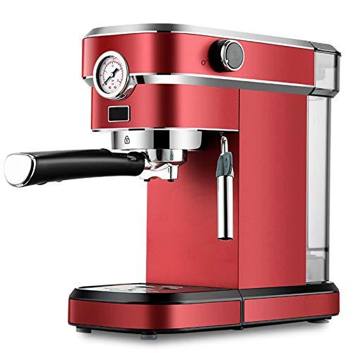 Ouumeis Machine Expresso Intelligente pour préparer Boissons café et lactées, Cafetières Filtre INOX 1Tasses Capacité1.1L Antigoutte, moudre des Grains café,Arrêt Automatique 15 Bar,Trois Filtre