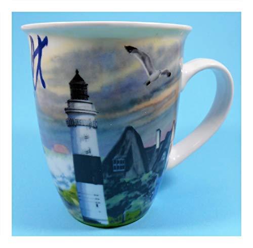 Unbekannt Tasse Sylt 10 x 8,5 cm Leuchtturm Maritim Rettungsring Schiff See Deko GCG E2