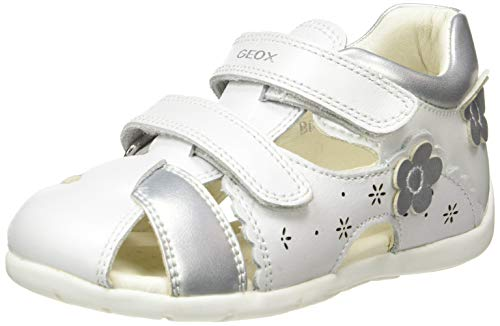 Geox Girls Toddler Kaytan 63 White First Steps 5.5