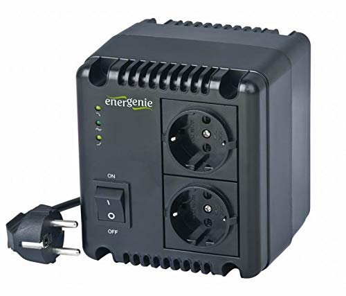EnerGenie EG-AVR-1001 Regulador y estabilizador automático de voltaje CA, LED, 220 V CA, 1000 VA