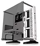Thermaltake Core P3 ATX Tempered Glass Gaming Computer Case Chassis, Open Frame Panoramic Viewing, White Edition, CA-1G4-00M6WN-05