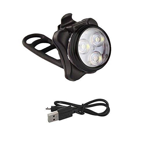 Gyy Fahrradlicht USB Wiederaufladbar Fahrradlampe Mountainbike Super Light Rücklicht Aufladen Außenscheinwerfer Vordere Heckleuchte (Color : Black A)