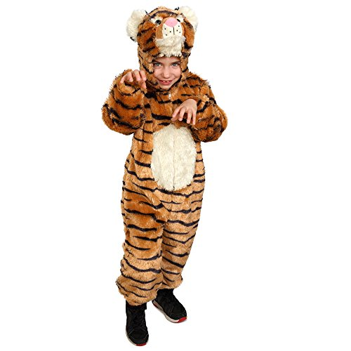 Dress Up America 864-T2 Streifentiger Pretend Spielen Jumpsuit-Outfit Kinder Striped Tiger Fantasie Halloween Kostüm, Alter 1-2 (Taille 24-26, Höhe 33-36 Zoll)