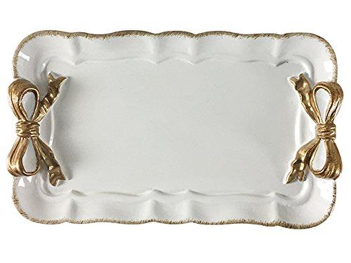 Style Européen Dîner Assiette Lave-Vaisselle Four Micro Onde Sûr Nœud Papillon Bol Assiette Plat (Blanc)