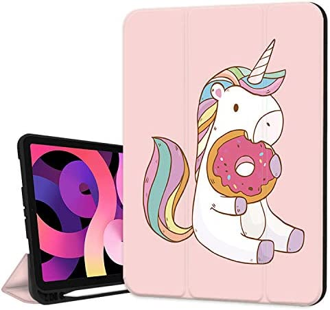 Hepix Unicorn iPad 10 9 inch Air 4th Generation Case with Pencil Holder 2020 Colorful Dounts product image