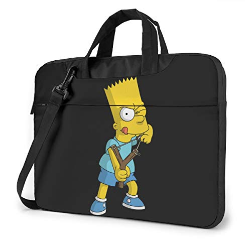 JuaoHuan Bart Simpson Laptop Shoulder Messenger Bag Case Briefcase Sleeve for 13 Inch 14 Inch 15.6 Inch Laptop Case 15.6 Inch