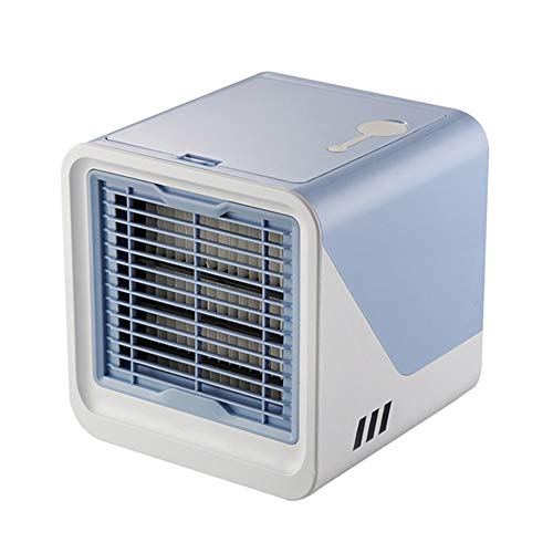 MONKEANGC Mini Portable Air Cooler, Multi-Color Night Light, with USB Power Supply, Suitable for Desk, Bedroom, Office