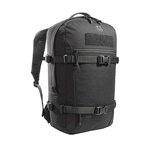 Tasmanian Tiger TT Modular Daypack XL Molle-kompatibler Tages-Rucksack mit Trinksystem-Vorbereitung 23 Liter (Schwarz)
