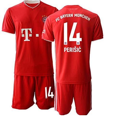 JEEG 20/21 Kinder PERISIC 14# Fußball Trikot Jugend Trainings Anzug T-Shirt Set (Kinder Größe 4-13 Jahre) (22)