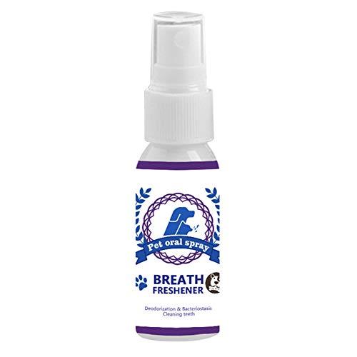 feeilty Mascotas Spray, Perro Cuidado Dental, Cuidado De Animales De Enjuague Bucal Spray para Mascotas Dientes Limpieza De La Respiración Ambientador Gatos Boca Perro Spray Limpiador De Atención