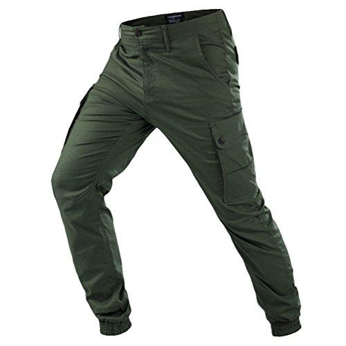 YuanDiann Homme Outdoor Tactique Pantalon Militaire Multi-Poches Couleur Unie...