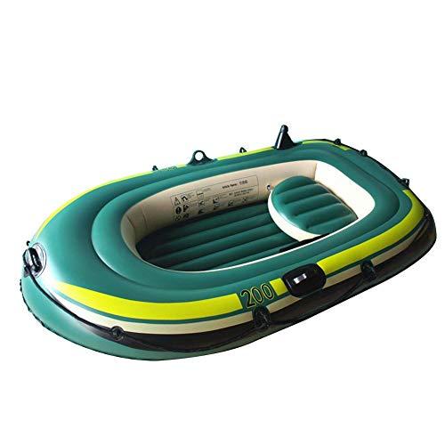 N/Y Kayak Inflable Juego de Botes inflables para 2 Personas Pesca de Servicio Pesado Kayak de Aire Juego de canoas Engrosado Plegable Resistente al Desgaste Barco de Pesca Kayak