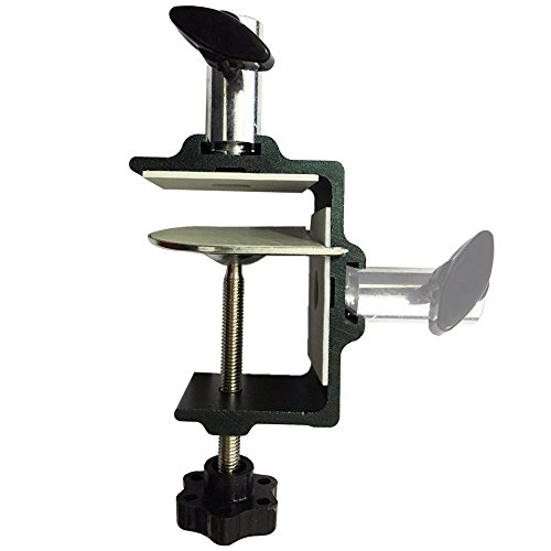 Etubby [Heavy Duty] Two-way Metal Table Clamp Mic/Tablet Scissor Arm Stand Bracket Clamp Desktop Lamp Work Light Mounting C-Clamp, Fits up to 6.3cm Desktop & 1.25cm Base Bar