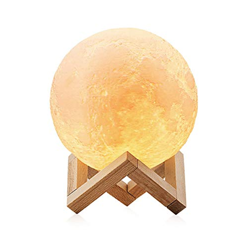 Lampara Luna 3D LED Moon Lamp, AUELEK 15cm Lámpara magica d