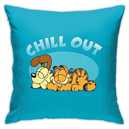 Garfield Chill out Throw Pillow Fundas Coche Sofá Cojín Fundas de Almohada Decoración del hogar