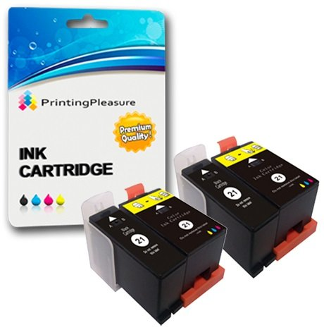4 (2 SETS) Compatible Dell Series 21 Ink Cartridges for Dell P513W P713W V313 V313W V513W V515W V51 V715W - Black/Colour, High Capacity