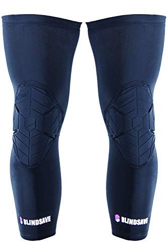 BLINDSAVE Knee Pads; Knie Sleeves, 1 Paar - schwarz Gr. XL