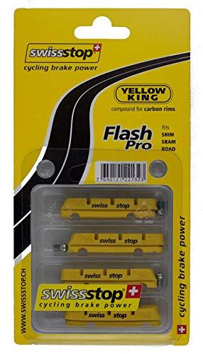 SwissStop Flash Pro Rennradbeläge, für Carbon, gelb (Yellow King)