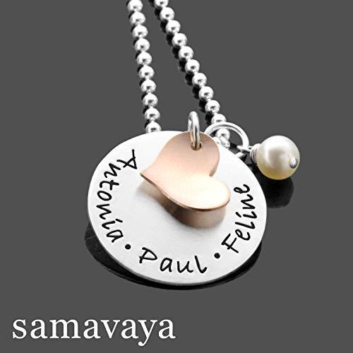 Namenskette für die Familie MY LOVED ONES rosegold Familienkette mit Gravur für Mama