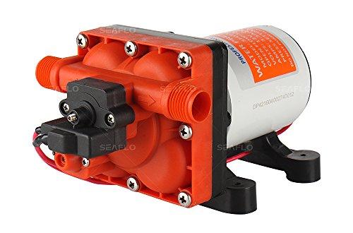 Seaflo Membranpumpe der Serie 42 mit Bypass für reduziertes Radfahren 12V/24V 11.3 LPM 55 PSI (12 Volt)