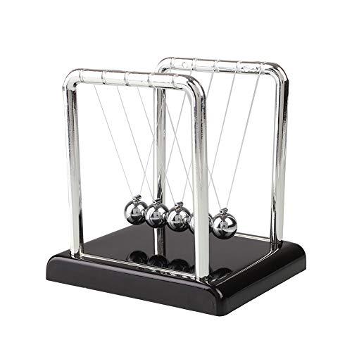 Kentop Kugelspiel Kugelstoßpendel Metall Newton Pendel für Schreibtisch Dekoration