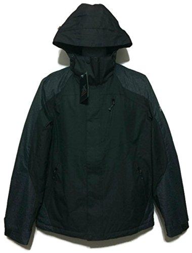 ZeroXposur Men's Mid-Weight Jacket, Black/Steal (M)