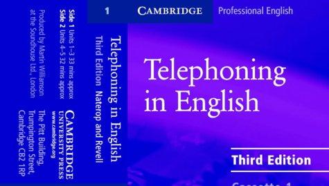 Telephoning in English Audio Cassette: 2 (Cambridge Professional English)
