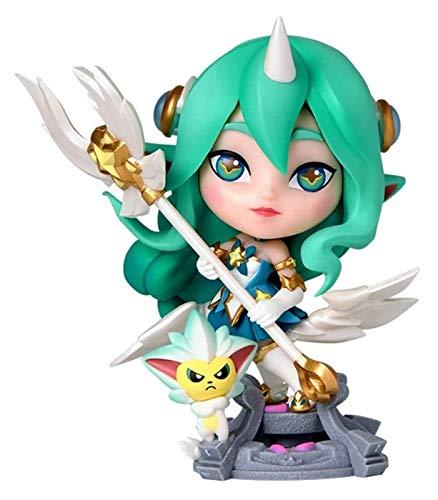Für die Legenden der Legenden-Spielfiguren, LOL-Serie Figuren / Star Guardian Soraka Statue, exquisite und coole Harzmodelle, perfekte Sammlungen für Desktopplatzierungs- oder Anzeigeschränke action f