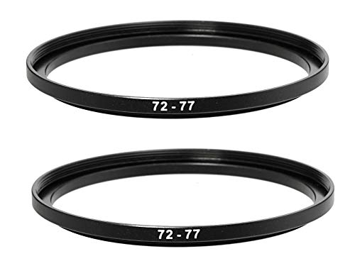 52-72MM Step-Up Ring Adapter 52 mm Male 72 mm Female Stepping Up Ring for DSLR Camera Lens and ND UV CPL Infrared Filters 52mm to 72mm Step Up Filter Ring 2 Packs
