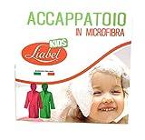 Liabel Accappatoio Microfibra Bimbo/Bimba Tutte Le Taglie (Azzurro, 10/12)