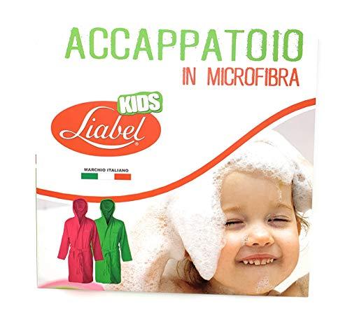 Liabel Accappatoio Microfibra Bimbo/Bimba Tutte Le Taglie (Glicine, 12/14)