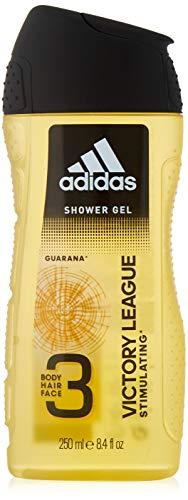 adidas Victory League Duschgel 3-in-1, Würzig-frischer Duft mit Bergamotte & Lavendel für Körper, Haare & Gesicht, pH-hautfreundlich, 6er Pack (6 x 250 ml)