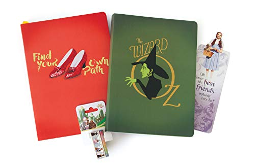 Paper House Productions SET0052 Wizard of Oz Softcover Journal Bundle includes 2 Lined Notebooks Glitter Bookmark, Washi Tape