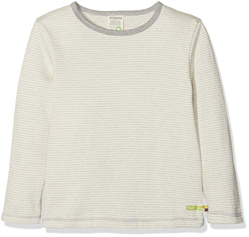 loud + proud loud + proud Kinder-Unisex Shirt Langarm Frottée Sweatshirt, Grau (Grey Gr), 68