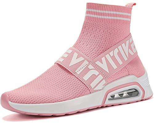 Elaphurus Damen Leichte Turnschuhe Slip-on Walking Schuhe Socks Schuhe Mode Sneaker Herren Hallenschuhe Kinder Sneaker, 3 Pink, 38 EU