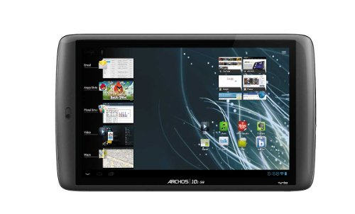 Archos 101 G9 Turbo 25,6 cm (10.1 Zoll) Tablet-PC (OMAP4 Multi Core A 9, 1,5 GHz, 1 GB RAM, 8 GB SDD, Wifi, kapazitives Display, Android 4.0) schwarz
