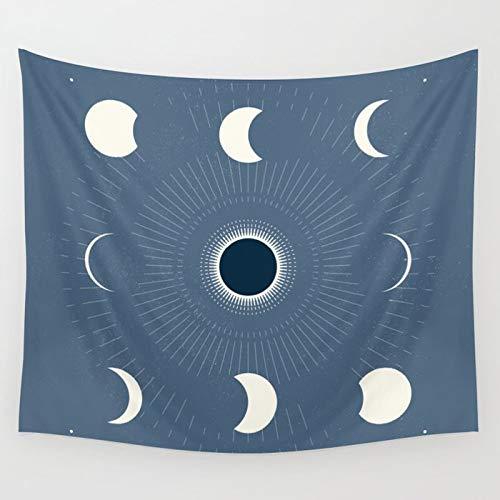 N / A Tapiz de Frase de Luna, tapices de Flores de Margarita, Tapiz Rosa para Colgar en la Pared de Lifetree con Ojos evile, decoración de Pared A8 95x73cm