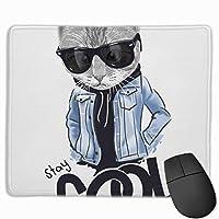 マウスパッド オフィス 最適 猫 個性 ポスター ペット 手描き ゲーミング 光学式マウス対応 防水性 耐久性 滑り止め 多機能 標準サイズ25cm×30cm