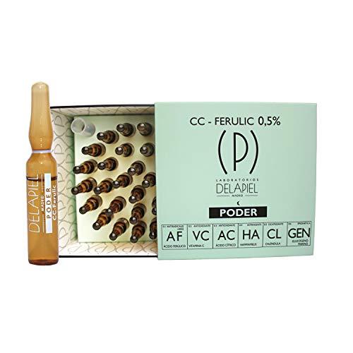 Delapiel Serum Facial Poder - Ácido Ferúlico y Vitamina C - 15 Ampollas - 30 ml