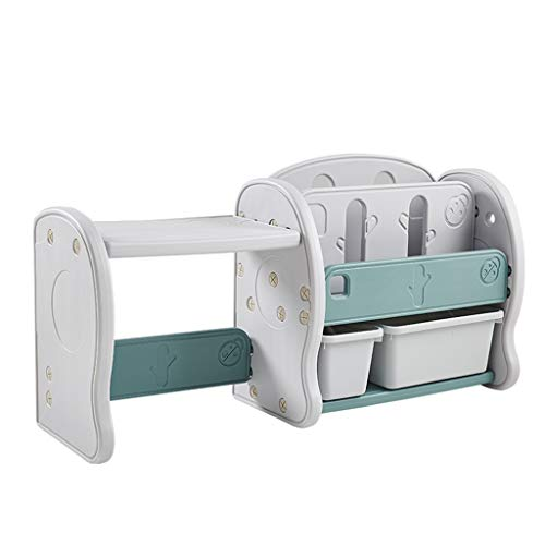 Meubles Porte-Jouets casier pour Chambre de bébé bibliothèque en Plastique pour Chambre d'enfant étagère de Bande dessinée pour Chambre de Fille garçon (Color : Gray, Size : 126cm*35cm*48cm)