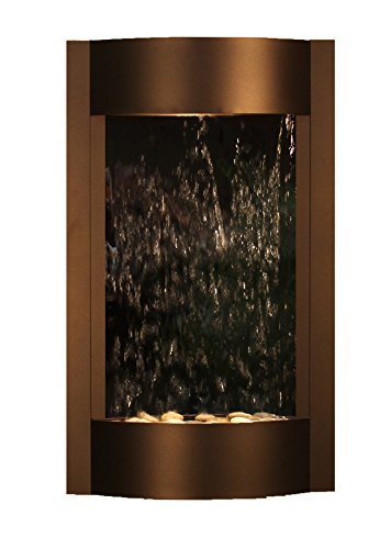 Serene Waters Water Feature with Silver Mirror (Antique Bronze)