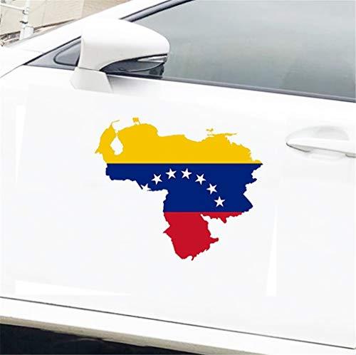 Auto Motorrad Aufkleber Autozubehör Venezuela Karte Flagcar Aufkleber Silhouette Für Helm Kühlschrank Laptop Tür 13x11,7 Cm Für Auto Laptop Fenster Aufkleber
